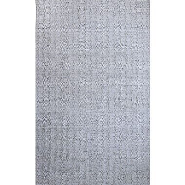 Dynamic Rugs Zest Hand-Woven Gray/Ivory Area Rug; 2' x 4'