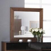 Hokku Designs Metro Mirror in Walnut