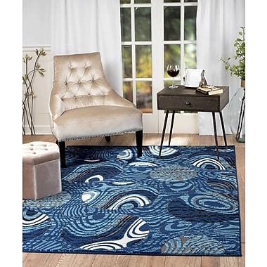 Rug and Decor Inc. Chatham Blue Area Rug; Runner 1'10'' x 7'