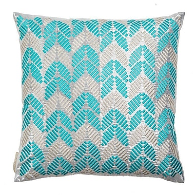 Sivaana Hand Embroidered Leaves Throw Pillow