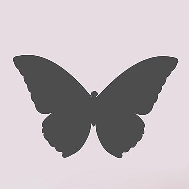 SweetumsWallDecals Butterfly Wall Decal; Dark Gray