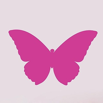 SweetumsWallDecals Butterfly Wall Decal; Hot Pink