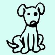 SweetumsWallDecals Cartoon Dog Wall Decal; Black