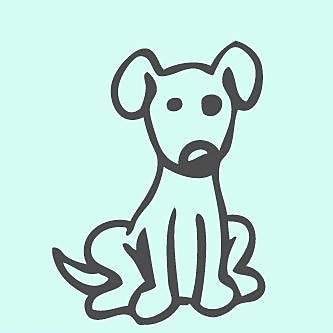 SweetumsWallDecals Cartoon Dog Wall Decal; Dark Gray