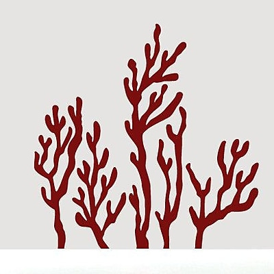 SweetumsWallDecals Coral Reef Wall Decal; Cranberry