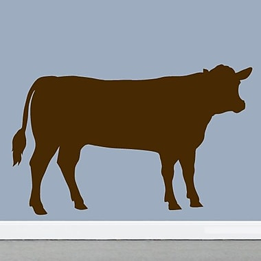 SweetumsWallDecals Cow Wall Decal; Brown