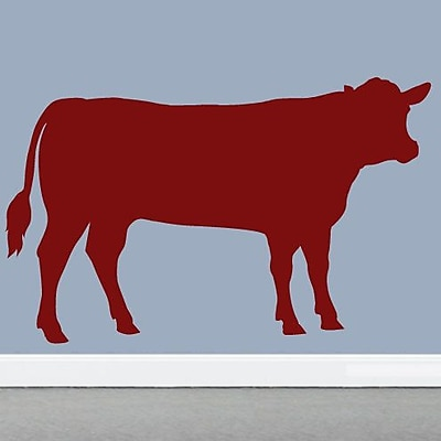 SweetumsWallDecals Cow Wall Decal; Cranberry