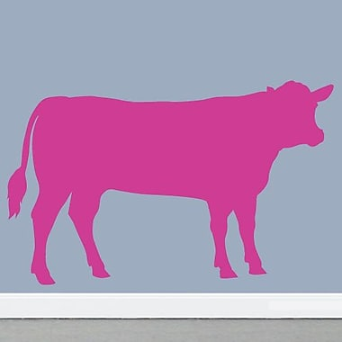 SweetumsWallDecals Cow Wall Decal; Hot Pink