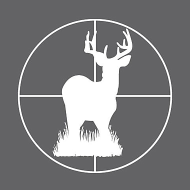 SweetumsWallDecals Deer Through Scope Wall Decal; White