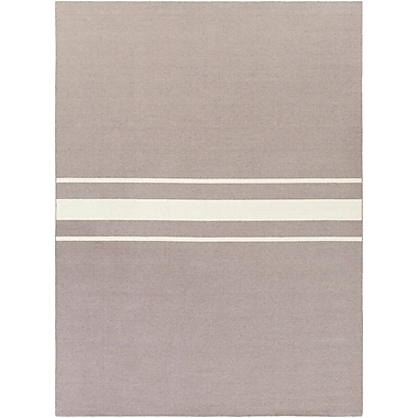 Breakwater Bay Lansing Hand Woven Gray Area Rug; 8' x 11'