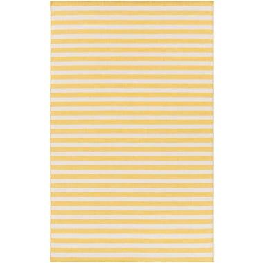 Breakwater Bay Lansing Hand Woven Yellow/Gray Area Rug; 8' x 11'