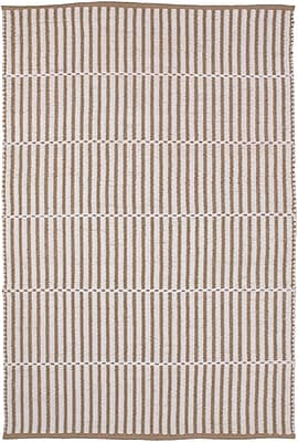 Breakwater Bay Interlachen Hand Woven Beige/Brown Area Rug; 2' x 3'