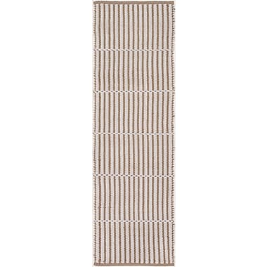 Breakwater Bay Interlachen Hand Woven Beige/Brown Area Rug; Runner 2'6'' x 8'