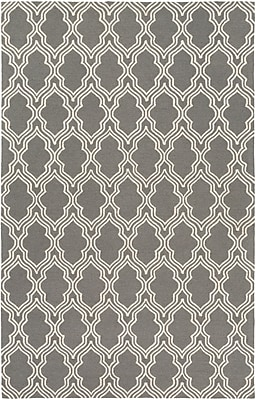 Breakwater Bay Frenchboro Hand-Hooked Gray Area Rug; 9' x 13'