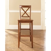 Breakwater Bay Boonville 30'' Bar Stools (Set of 2); Classic Cherry