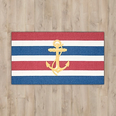 Breakwater Bay Orton Navy ''Anchor'' Area Rug