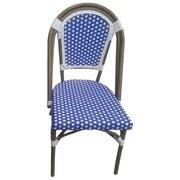 Breakwater Bay Trevett Side Chair; Navy / White