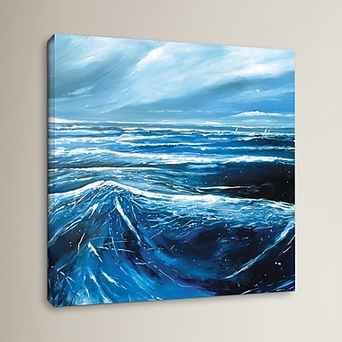 Breakwater Bay Sea View III Painting Print on Canvas; 14'' H x 14'' W x 0.1'' D