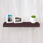 """Way Basics 23.6""""W x 2""""H Floating Wall Shelf made from zBoard Eco Reycled Paperboard, Espresso"""