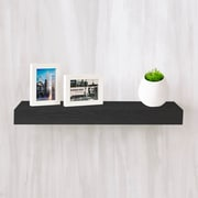 """Way Basics 23.6""""W x 2""""H Floating Wall Shelf made from zBoard Eco Reycled Paperboard, Black"""