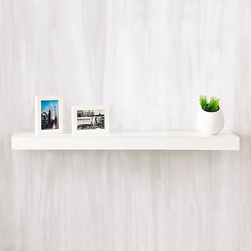 Brilliant Way Basics 35 4W X 2H Floating Wall Shelf Made From Zboard Eco Reycled Paperboard White Best Image Libraries Barepthycampuscom