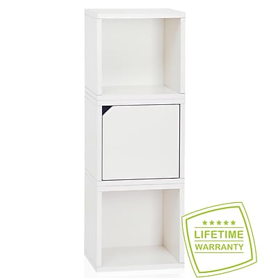Way Basics Eco Stackable Connect 3 Cube Storage, White