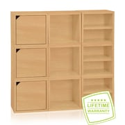 Way Basics Eco Stackable Connect 9 Cube Storage System, Natural