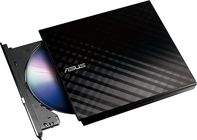 ASUS 512MB USB 2.0 Slim External DVD+RW Optical Drive, Black