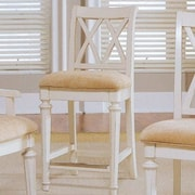 Breakwater Bay Baileyville 25'' Bar Stool; Ivory