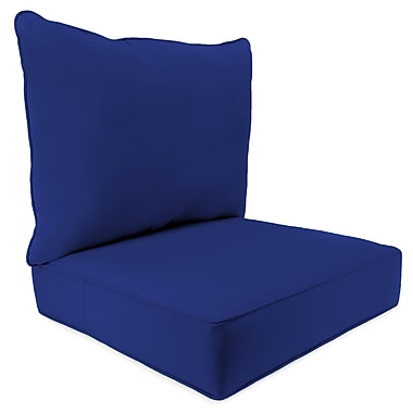 Breakwater Bay 2 Piece Indoor/Outdoor Chair Cushion Set; Cobalt Blue