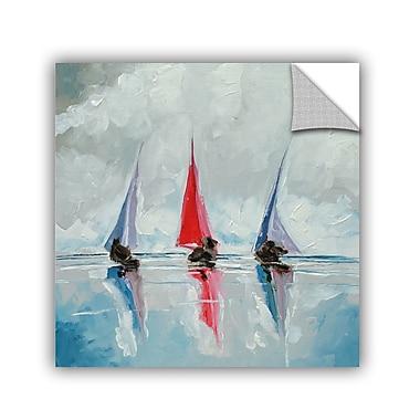 Breakwater Bay Three Boats II Painting Print; 36'' H x 36'' W x 0.1'' D