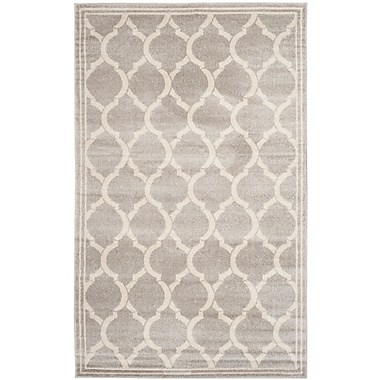 Breakwater Bay Rutherford Light Gray / Ivory Indoor/Outdoor Area Rug; Rectangle 2'6'' x 4'