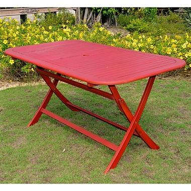 Breakwater Bay Sabbattus Dining Table; Barn Red