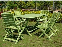 Breakwater Bay Sabbattus 7 Piece Dining Set; Mint Green
