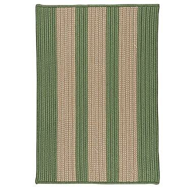 Breakwater Bay Seal Harbor Olive Indoor/Outdoor Area Rug; Square 4'