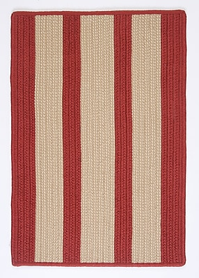 Breakwater Bay Seal Harbor Rust Red Indoor/Outdoor Area Rug; 8' x 11'