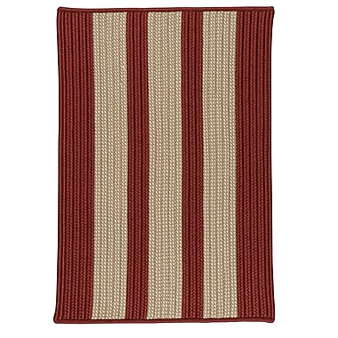 Breakwater Bay Seal Harbor Rust Red Indoor/Outdoor Area Rug; Runner 2' x 6'