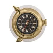 Breakwater Bay Saybrook Porthole Metal Clock