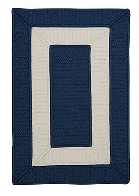 Breakwater Bay Kenton Blue Indoor/Outdoor Area Rug; Square 10'