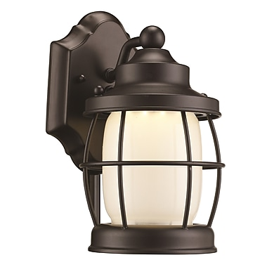 Breakwater Bay Dorset 1-Light Outdoor Wall Lantern; 10'' H x 5.5'' W x 6.75'' D