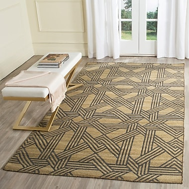 Breakwater Bay Fitzpatrick Hand-Woven Olive/Gray Area Rug; 5' x 8'