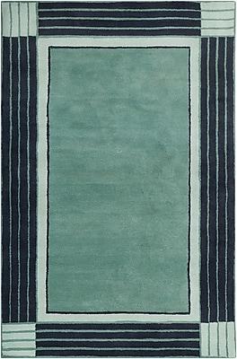Breakwater Bay Westfield Hand Tufted Wool Teal Blue/Navy Blue Area Rug; 8' x 10'