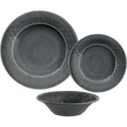 Breakwater Bay Simonton Melamine 12 Piece Dinnerware Set; Gray