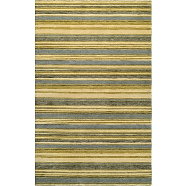 Breakwater Bay Russell Hand-Knotted Ivory/Olive Area Rug; 7'9'' x 9'9''
