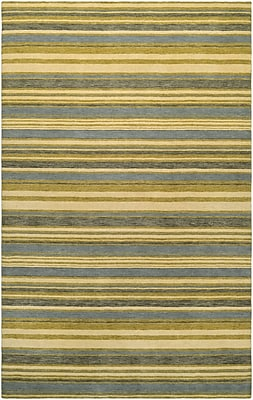 Breakwater Bay Russell Hand-Knotted Ivory/Olive Area Rug; Runner 2'2'' x 7'9''