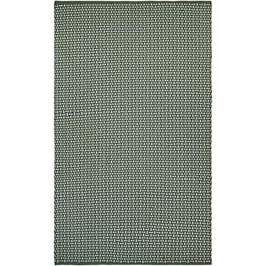 Breakwater Bay Dewey Hand-Woven Green Indoor/Outdoor Area Rug; 3' x 5'