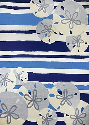 Breakwater Bay Dalvey Sand Dollar Beige/Blue Indoor/Outdoor Area Rug; 5' x 8'