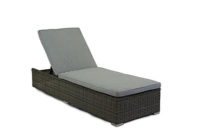 Breakwater Bay Stinson Chaise Lounge w/ Cushion; Granite