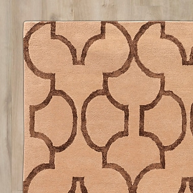 Mercer41 Leone Hand-Tufted Beige/Brown Area Rug; 2' x 3'