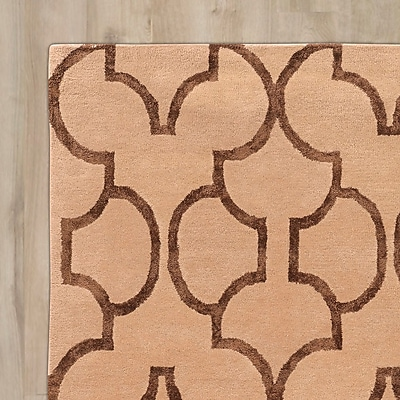 Mercer41 Leone Hand-Tufted Beige/Brown Area Rug; 2' x 3'